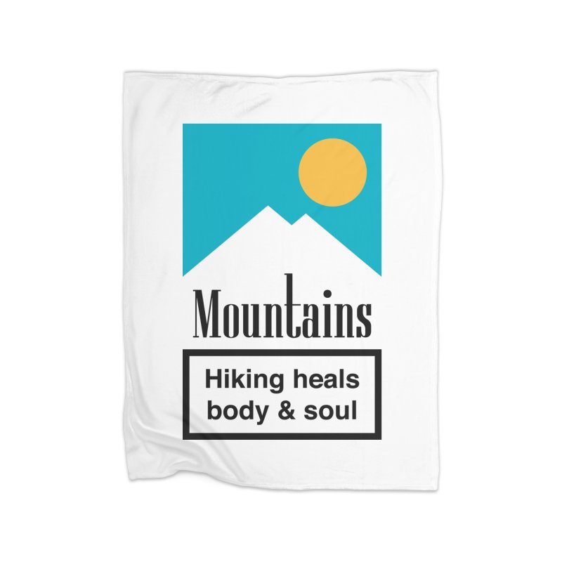 Mountains Home Blanket by aparaat's artist shop