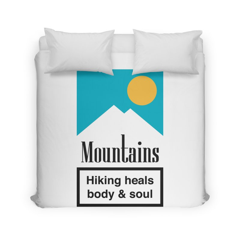 Mountains Home Duvet by aparaat's artist shop