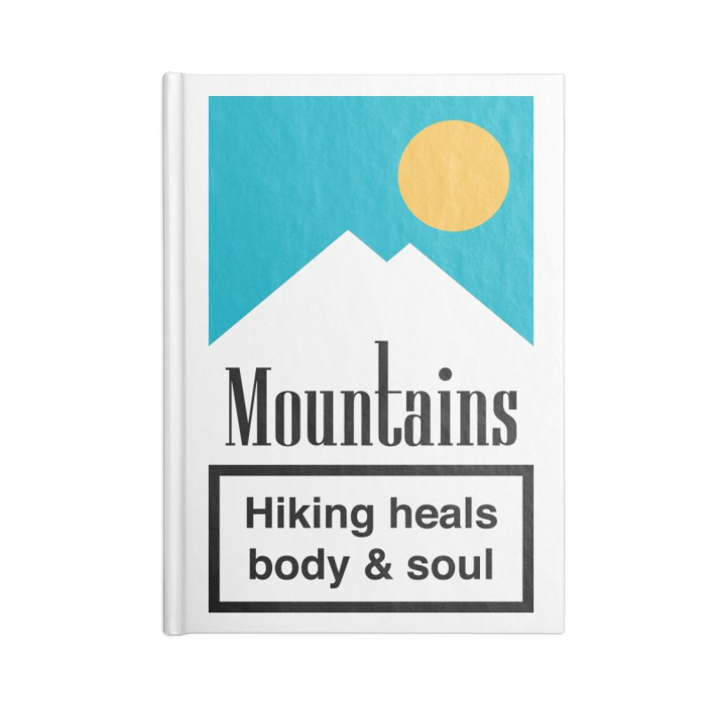 Mountains Accessories Notebook by aparaat's artist shop