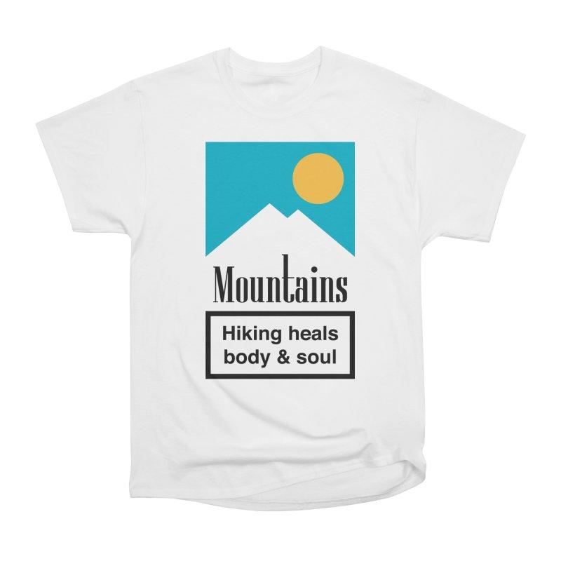 Mountains Women's Heavyweight Unisex T-Shirt by aparaat's artist shop