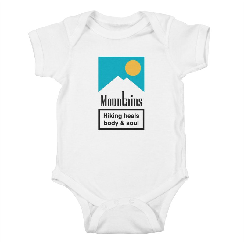 Mountains Kids Baby Bodysuit by aparaat's artist shop