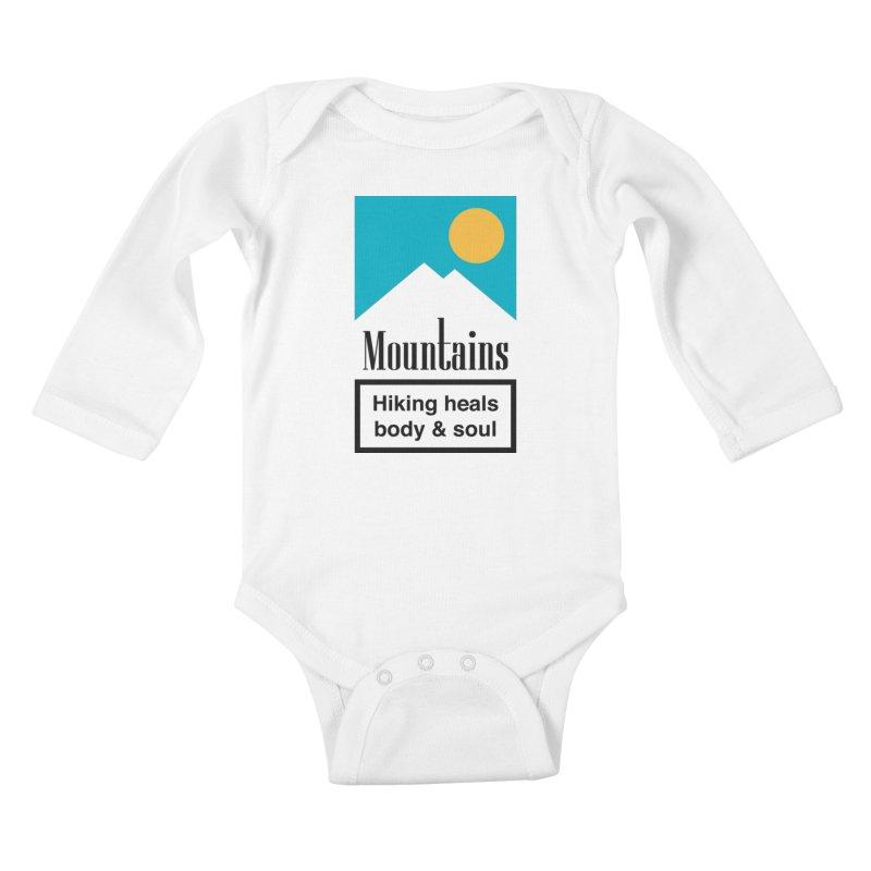 Mountains Kids Baby Longsleeve Bodysuit by aparaat's artist shop