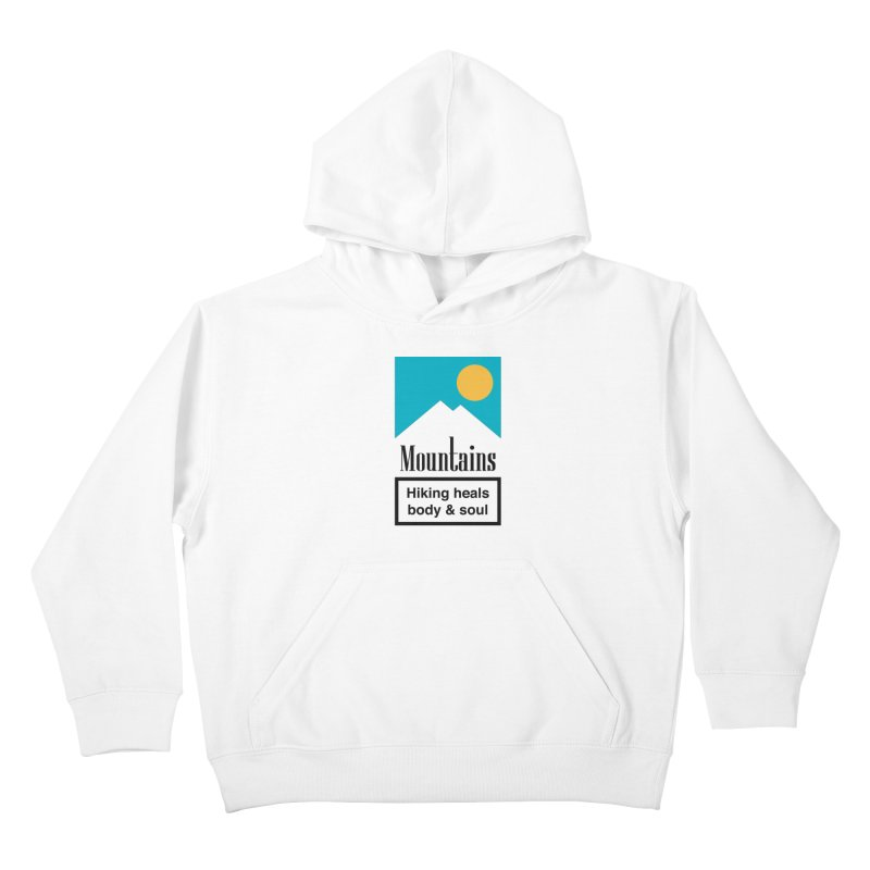 Mountains Kids Pullover Hoody by aparaat's artist shop