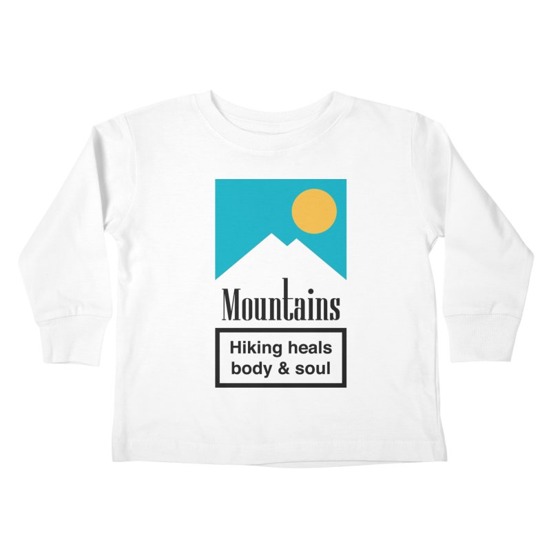 Mountains Kids Toddler Longsleeve T-Shirt by aparaat's artist shop