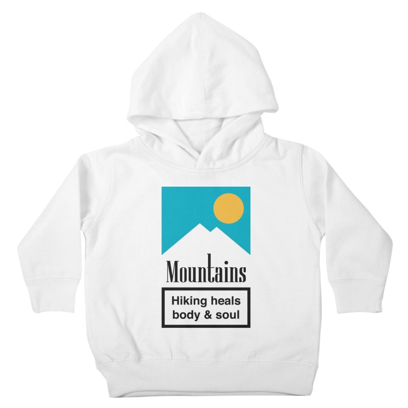 Mountains Kids Toddler Pullover Hoody by aparaat's artist shop