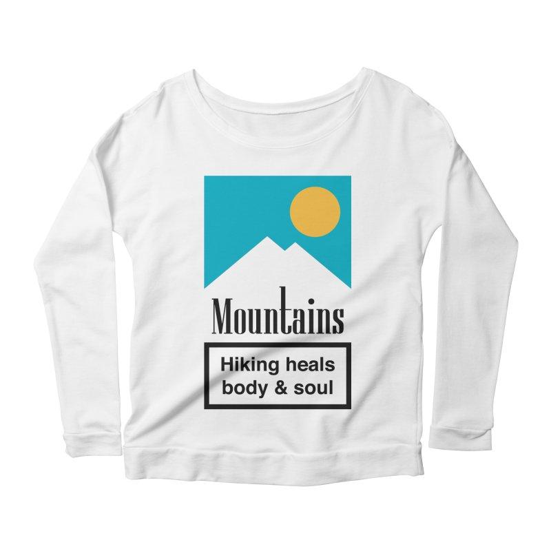 Mountains Women's Scoop Neck Longsleeve T-Shirt by aparaat's artist shop