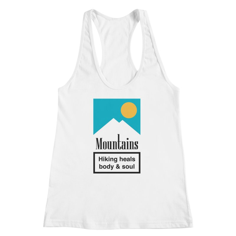Mountains Women's Racerback Tank by aparaat's artist shop