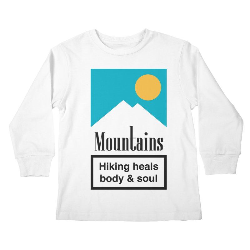Mountains Kids Longsleeve T-Shirt by aparaat's artist shop