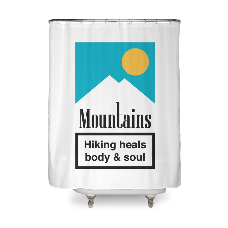 Mountains Home Shower Curtain by aparaat's artist shop