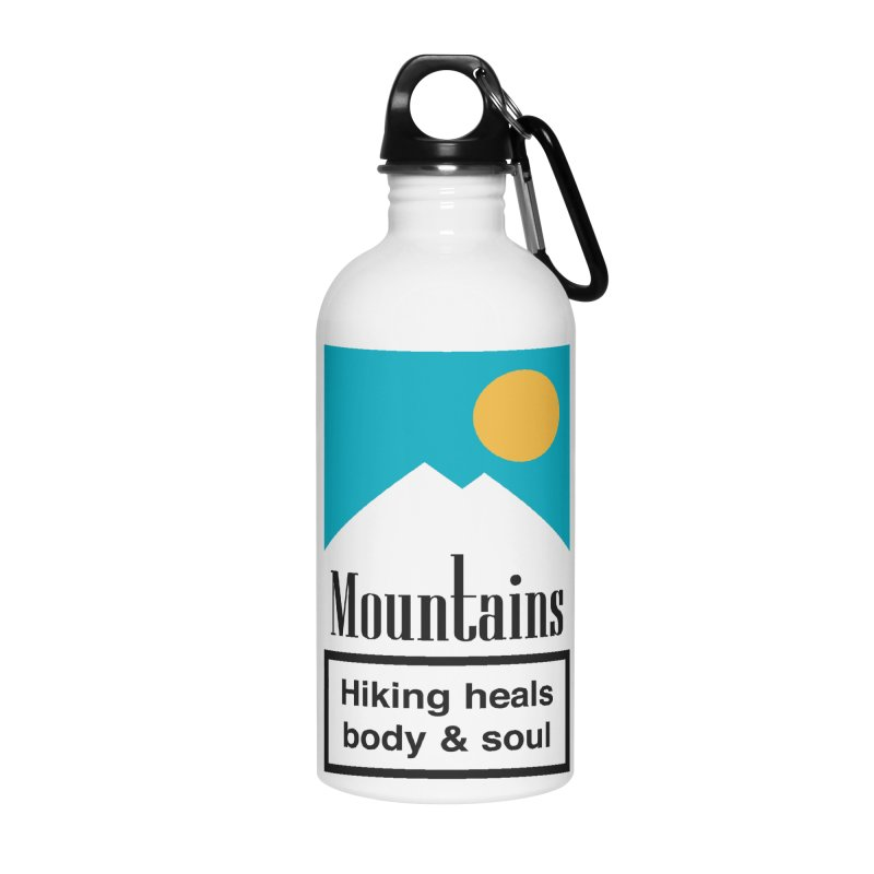 Mountains Accessories Water Bottle by aparaat's artist shop