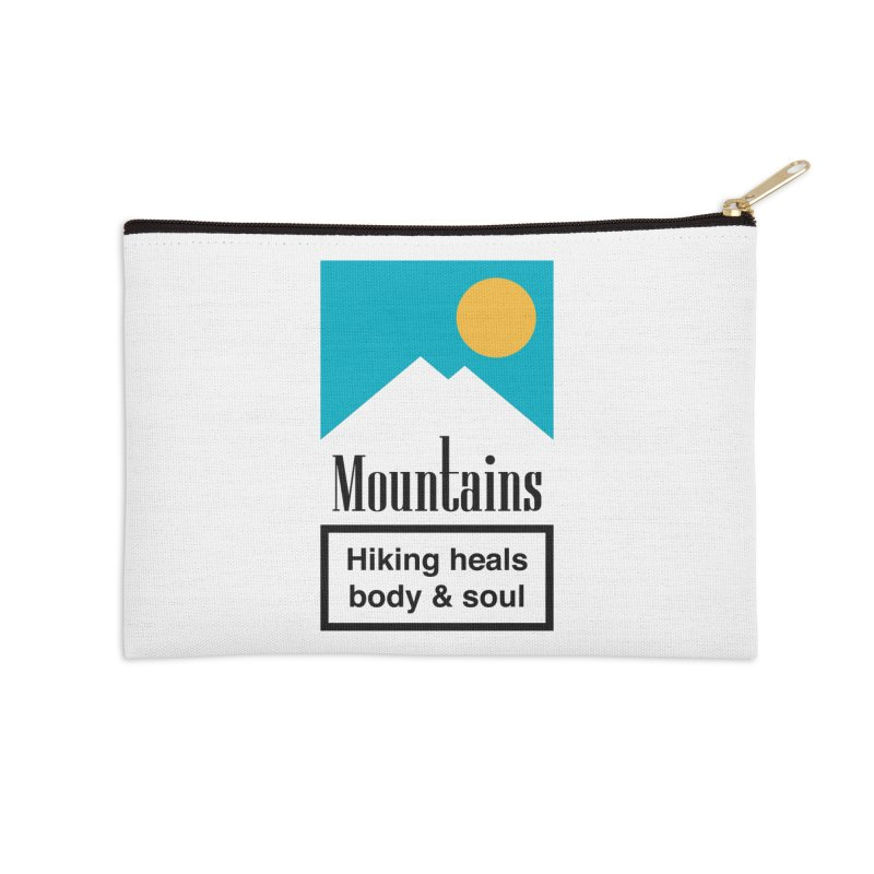 Mountains Accessories Zip Pouch by aparaat's artist shop