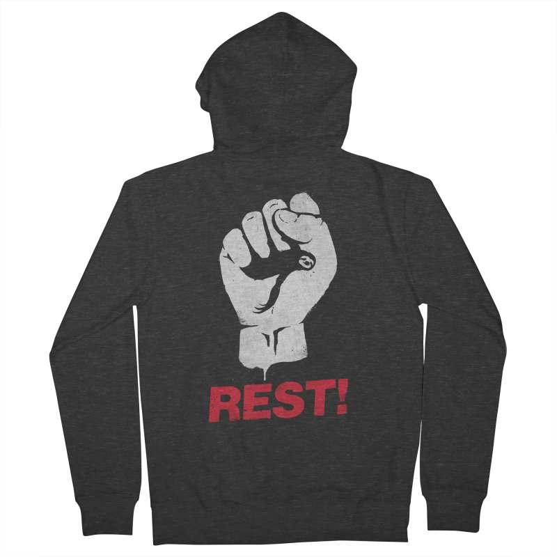 Rest! Women's French Terry Zip-Up Hoody by aparaat's artist shop