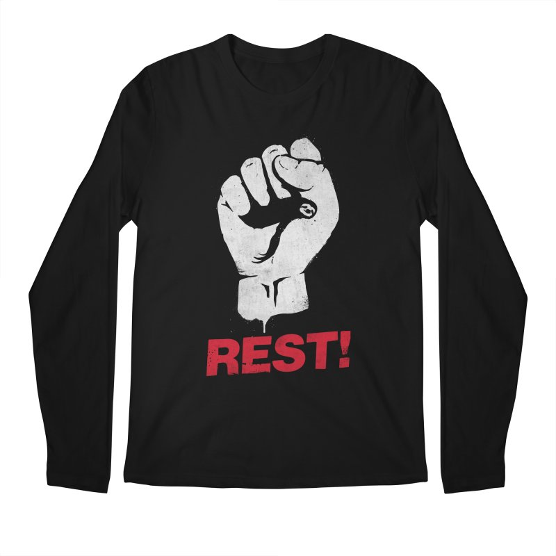 Rest! Men's Regular Longsleeve T-Shirt by aparaat's artist shop