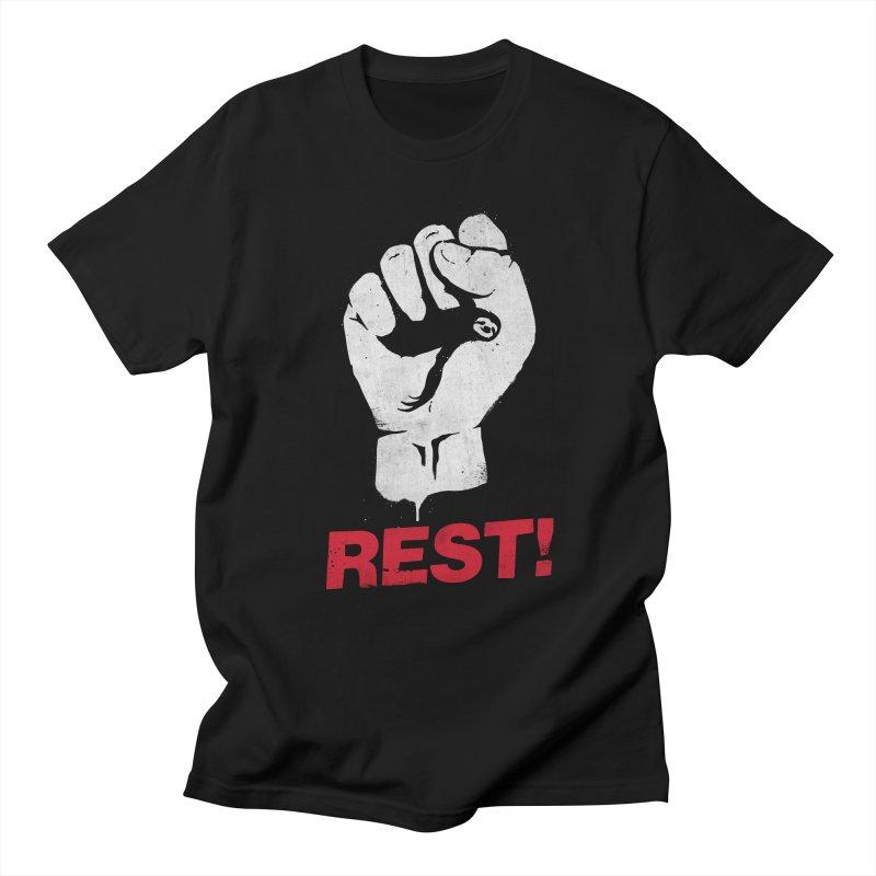 Rest! Women's Regular Unisex T-Shirt by aparaat's artist shop