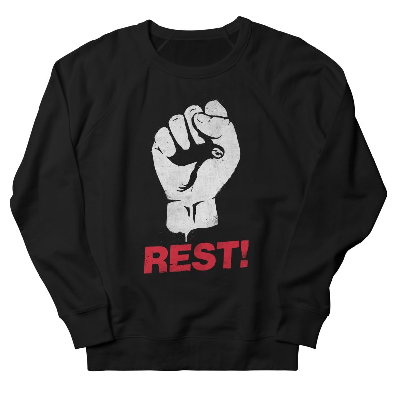 Rest! Men's French Terry Sweatshirt by aparaat's artist shop
