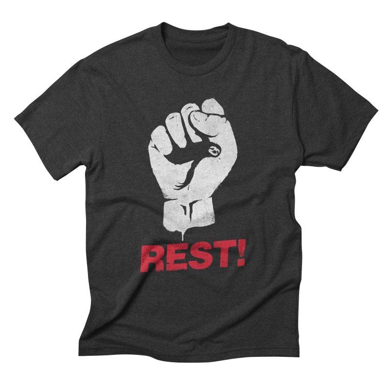 Rest! Men's Triblend T-Shirt by aparaat's artist shop