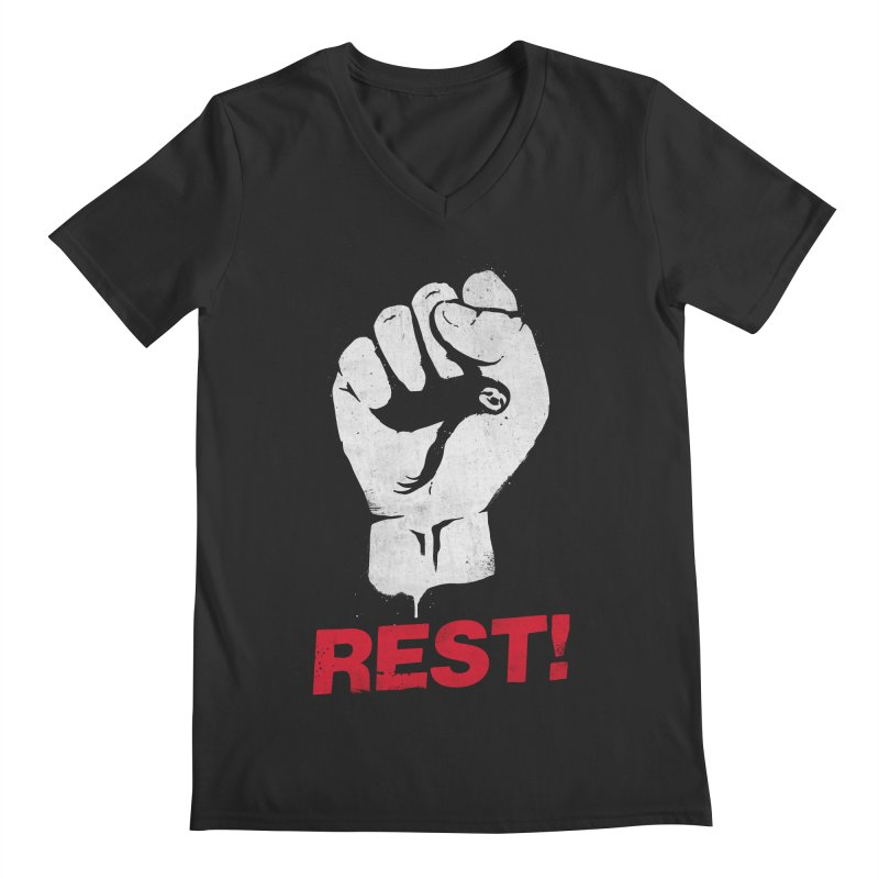 Rest! Men's Regular V-Neck by aparaat's artist shop