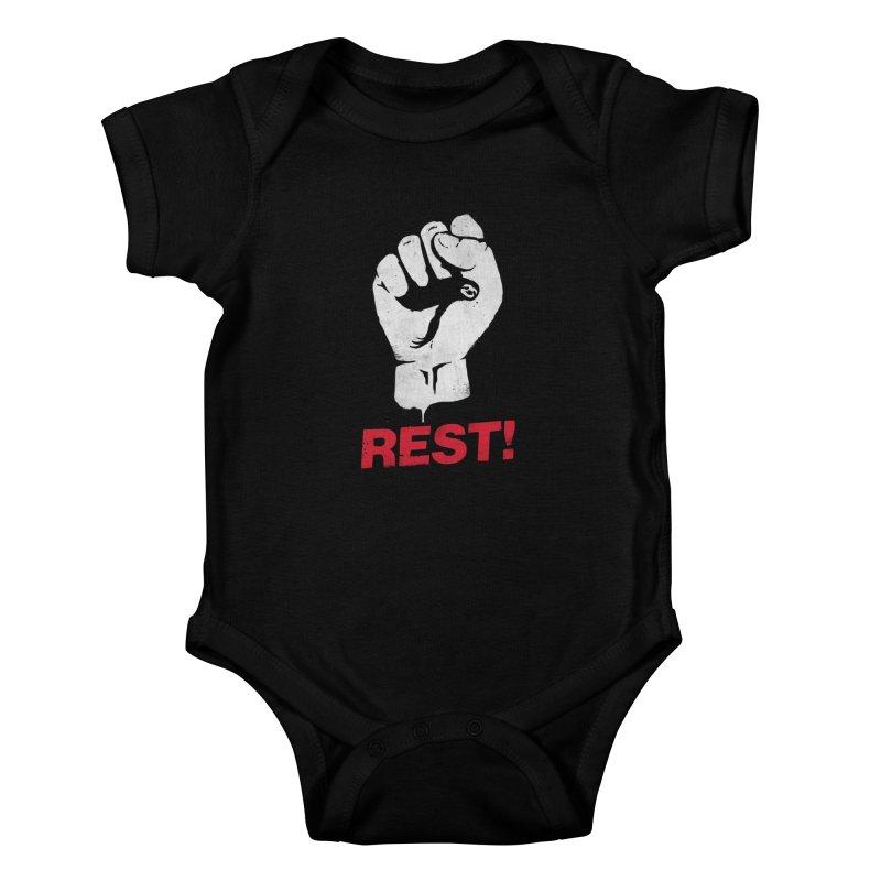 Rest! Kids Baby Bodysuit by aparaat's artist shop