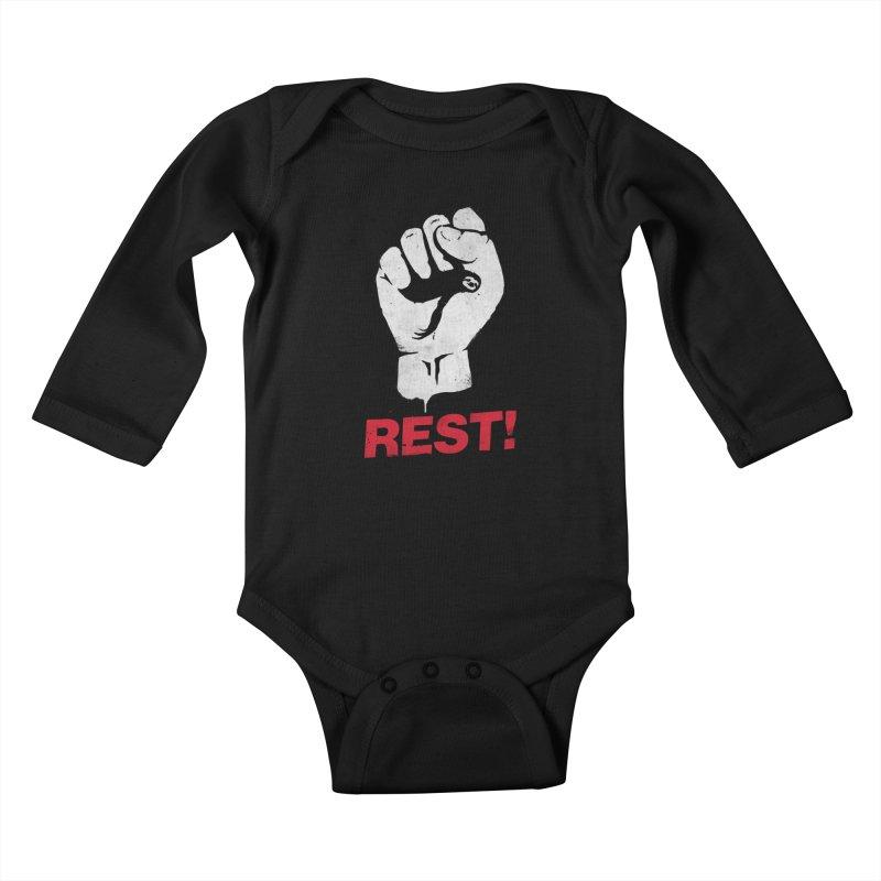 Rest! Kids Baby Longsleeve Bodysuit by aparaat's artist shop