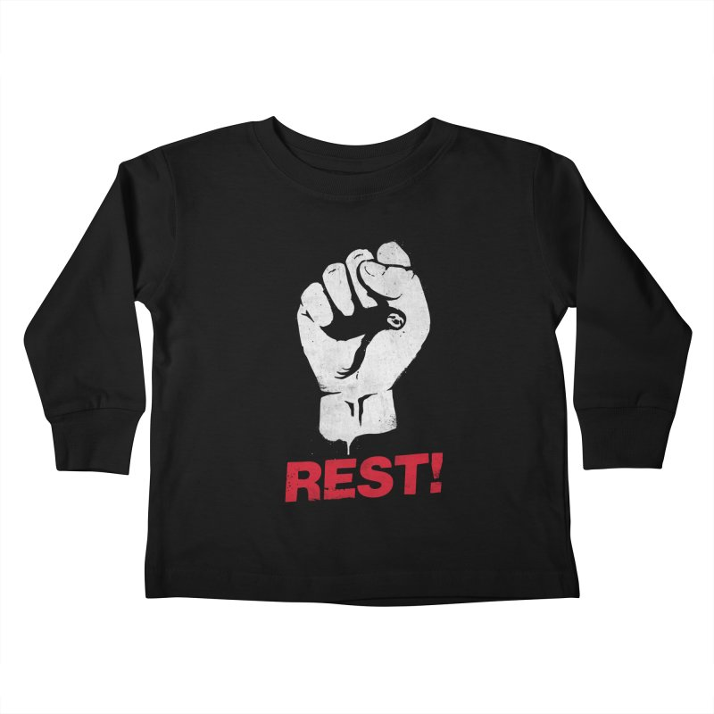 Rest! Kids Toddler Longsleeve T-Shirt by aparaat's artist shop