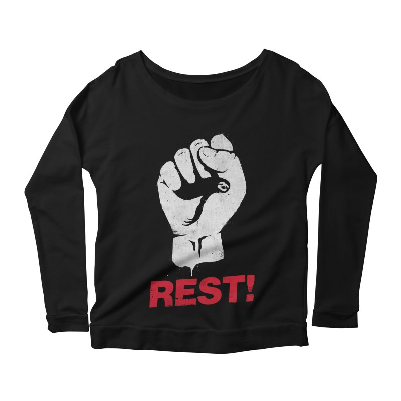 Rest! Women's Longsleeve Scoopneck  by aparaat's artist shop