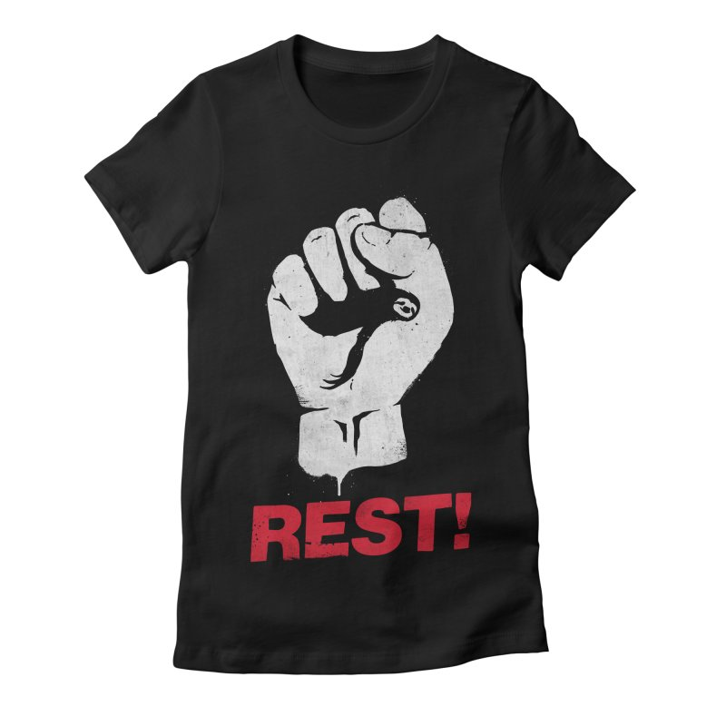 Rest! Women's Fitted T-Shirt by aparaat's artist shop