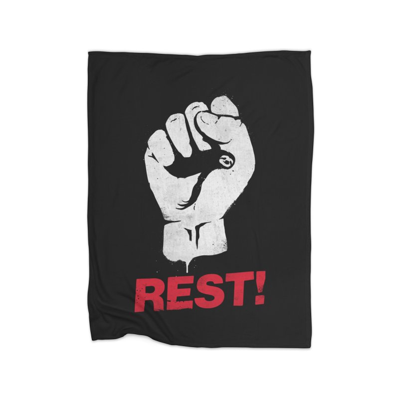 Rest! Home Blanket by aparaat's artist shop