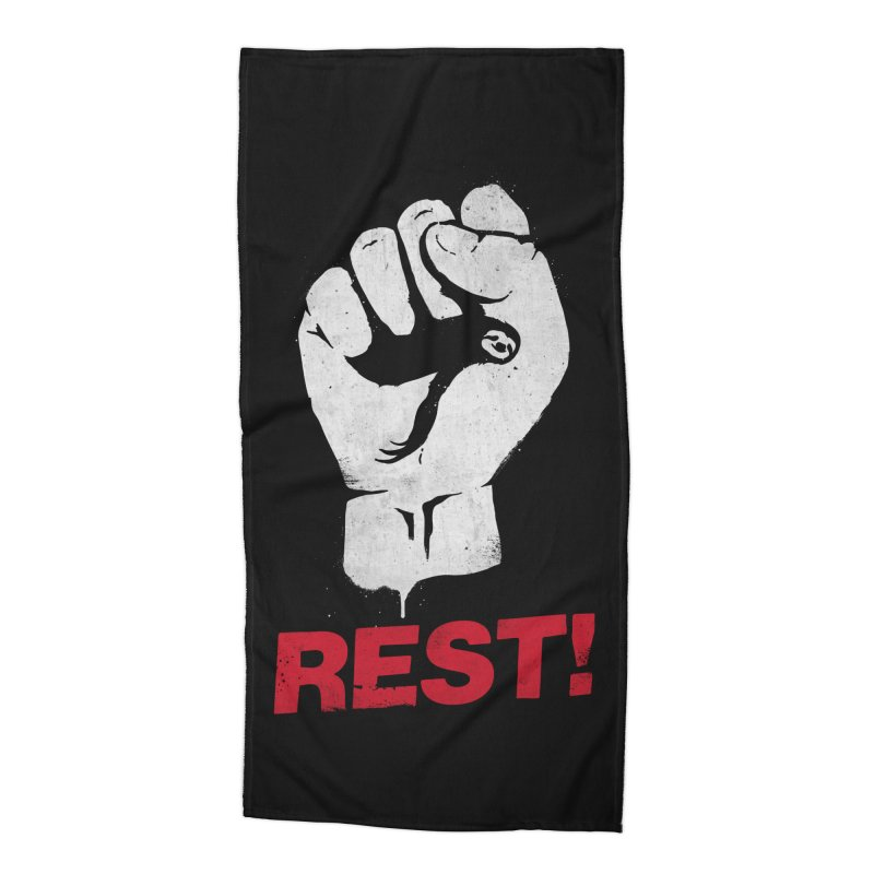 Rest! Accessories Beach Towel by aparaat's artist shop