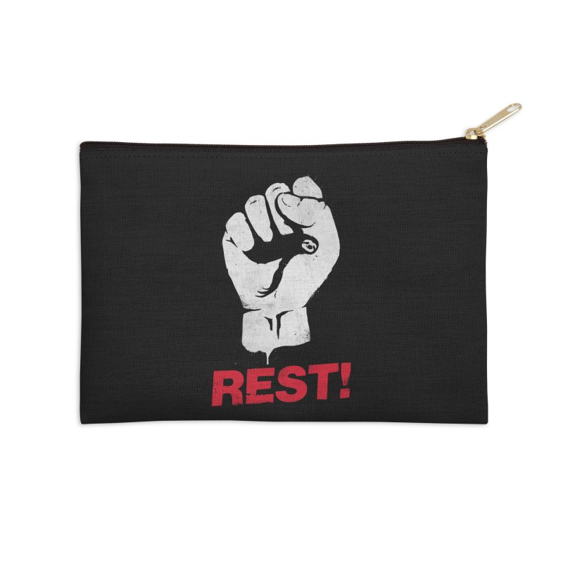 Rest! Accessories Zip Pouch by aparaat's artist shop