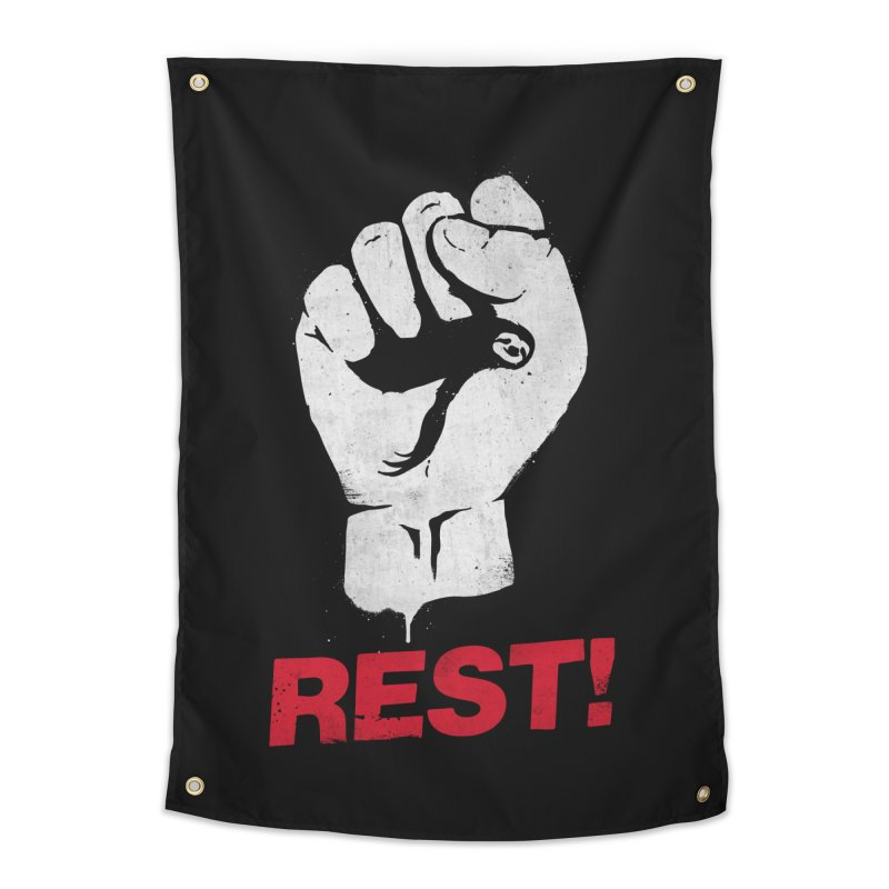 Rest! Home Tapestry by aparaat's artist shop