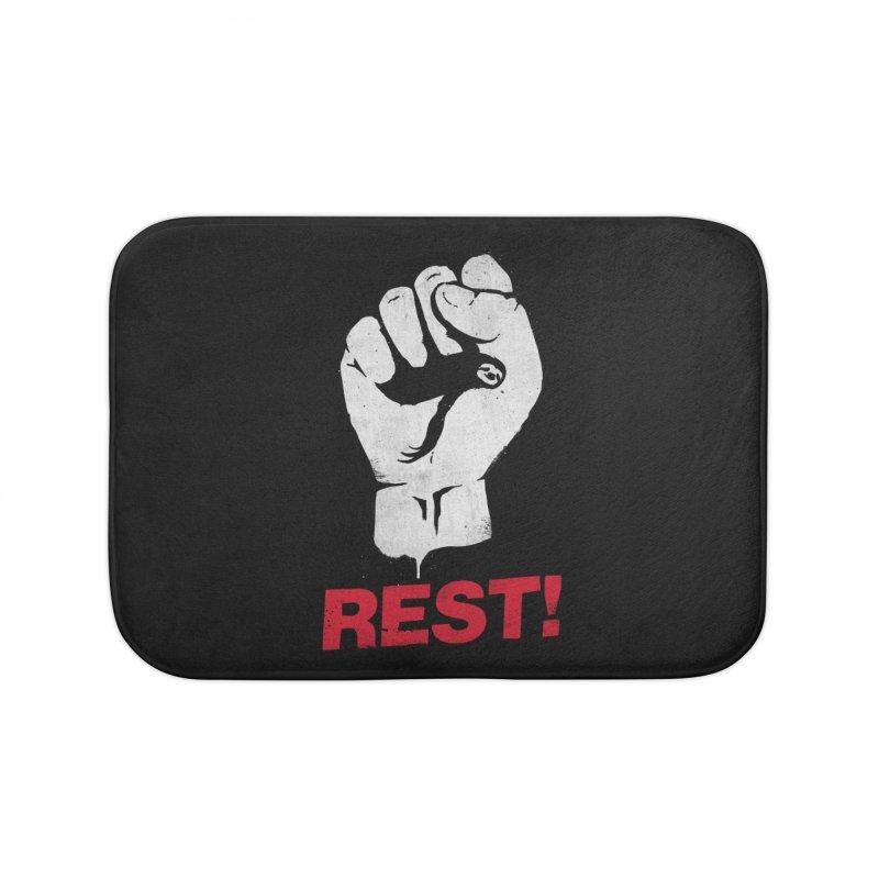 Rest! Home Bath Mat by aparaat's artist shop