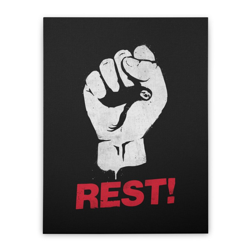 Rest! Home Stretched Canvas by aparaat's artist shop