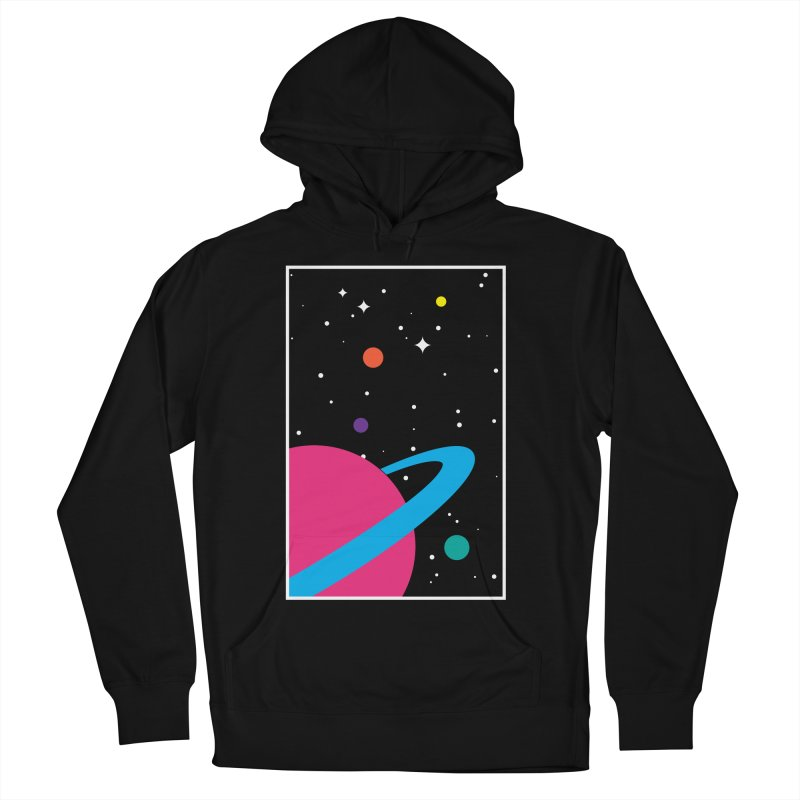 Space Is a Happy Place Men's French Terry Pullover Hoody by aparaat's artist shop