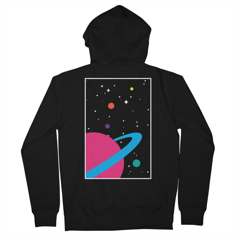 Space Is a Happy Place Women's Zip-Up Hoody by aparaat's artist shop