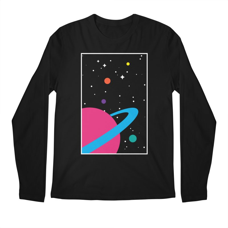 Space Is a Happy Place Men's Regular Longsleeve T-Shirt by aparaat's artist shop