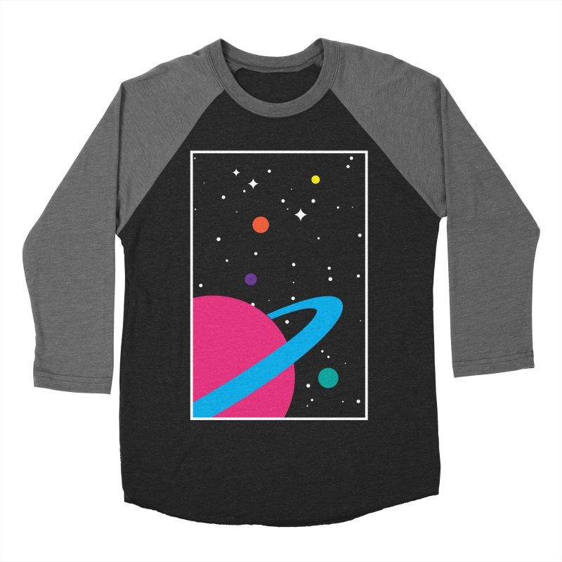 Space Is a Happy Place Men's Baseball Triblend Longsleeve T-Shirt by aparaat's artist shop