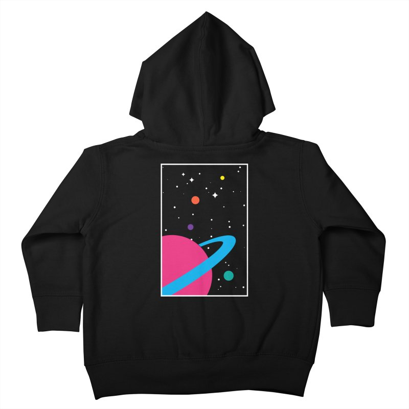 Space Is a Happy Place Kids Toddler Zip-Up Hoody by aparaat's artist shop