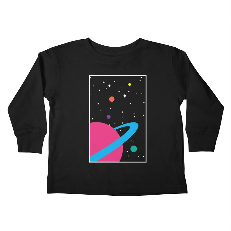 Space Is a Happy Place Kids Toddler Longsleeve T-Shirt by aparaat's artist shop