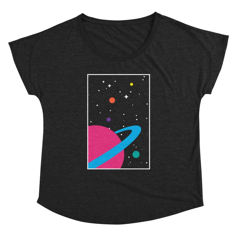 Space Is a Happy Place Women's Dolman by aparaat's artist shop