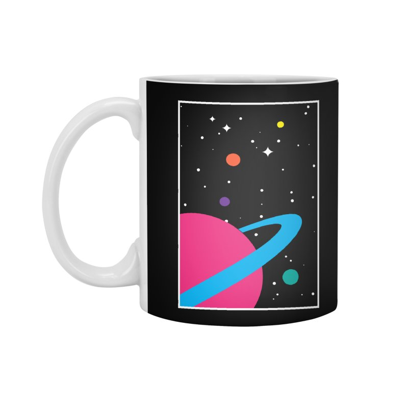 Space Is a Happy Place Accessories Mug by aparaat's artist shop