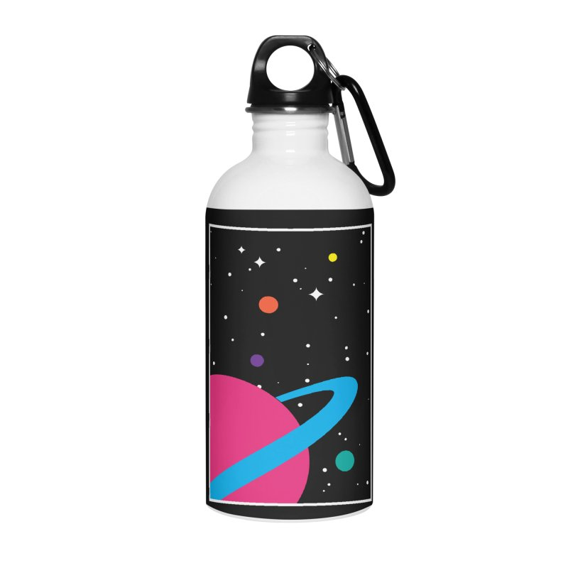 Space Is a Happy Place Accessories Water Bottle by aparaat's artist shop