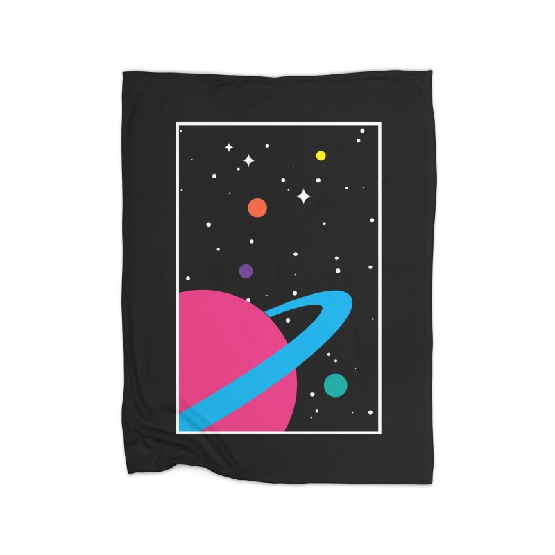Space Is a Happy Place Home Blanket by aparaat's artist shop