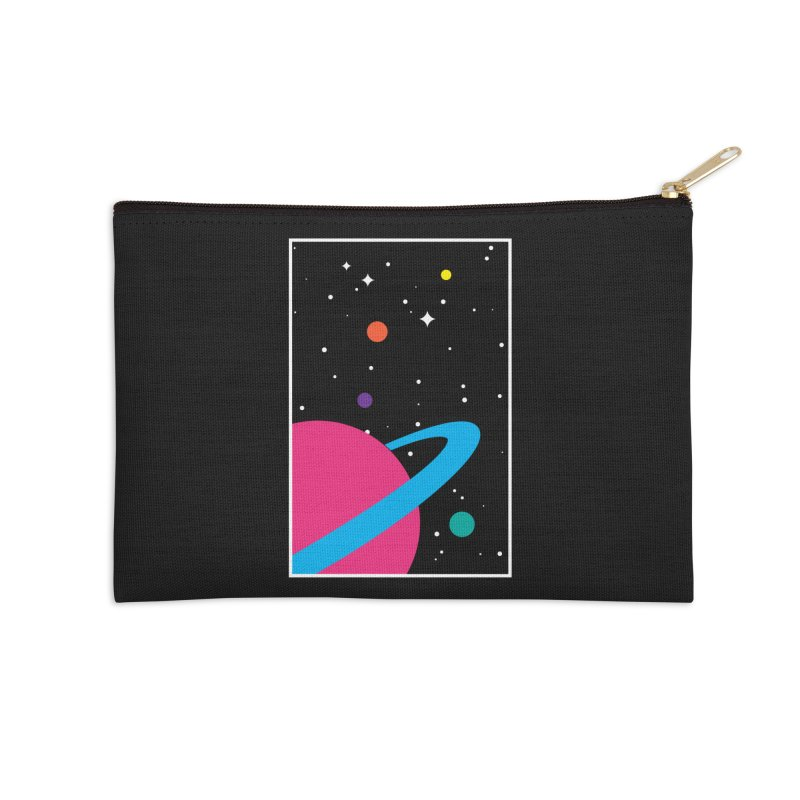 Space Is a Happy Place Accessories Zip Pouch by aparaat's artist shop
