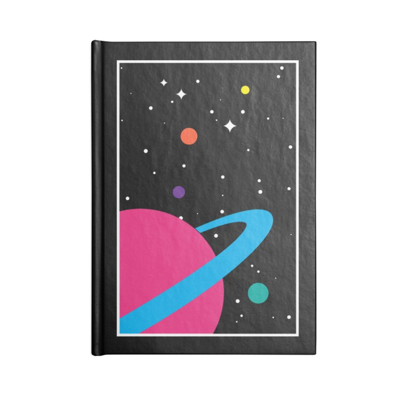 Space Is a Happy Place Accessories Notebook by aparaat's artist shop