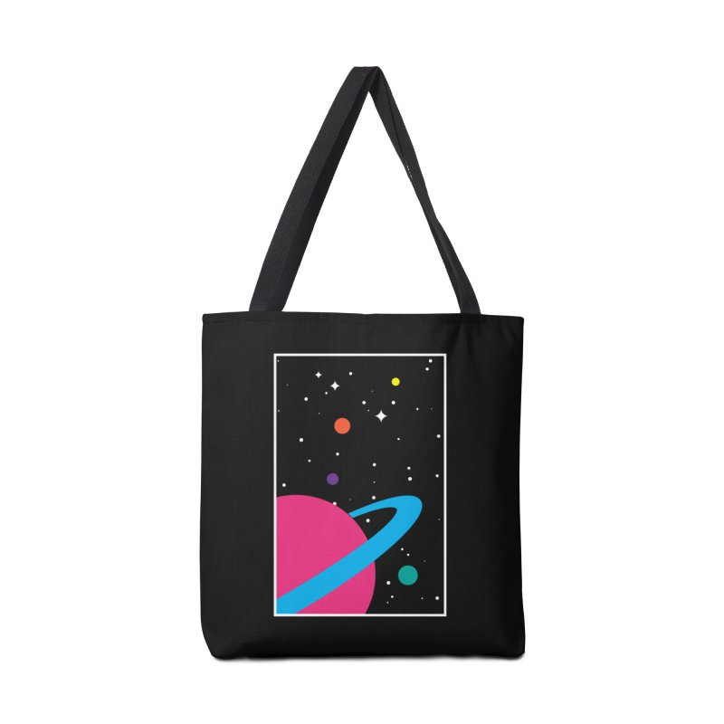 Space Is a Happy Place Accessories Bag by aparaat's artist shop