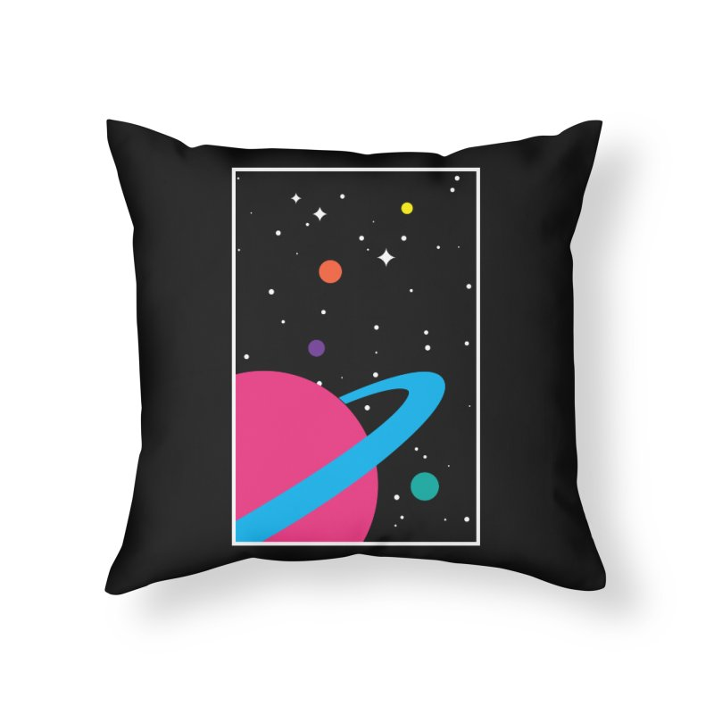Space Is a Happy Place Home Throw Pillow by aparaat's artist shop