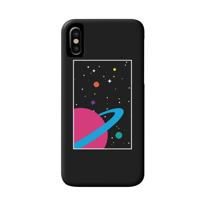 Space Is a Happy Place Accessories Phone Case by aparaat's artist shop