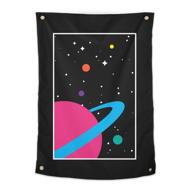 Space Is a Happy Place Home Tapestry by aparaat's artist shop