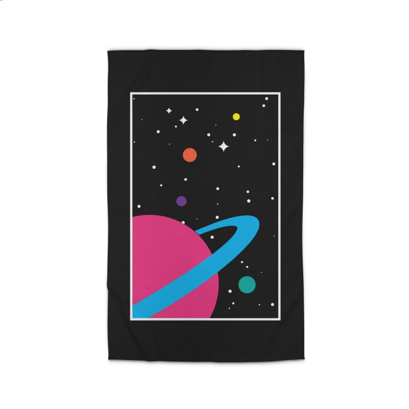 Space Is a Happy Place Home Rug by aparaat's artist shop