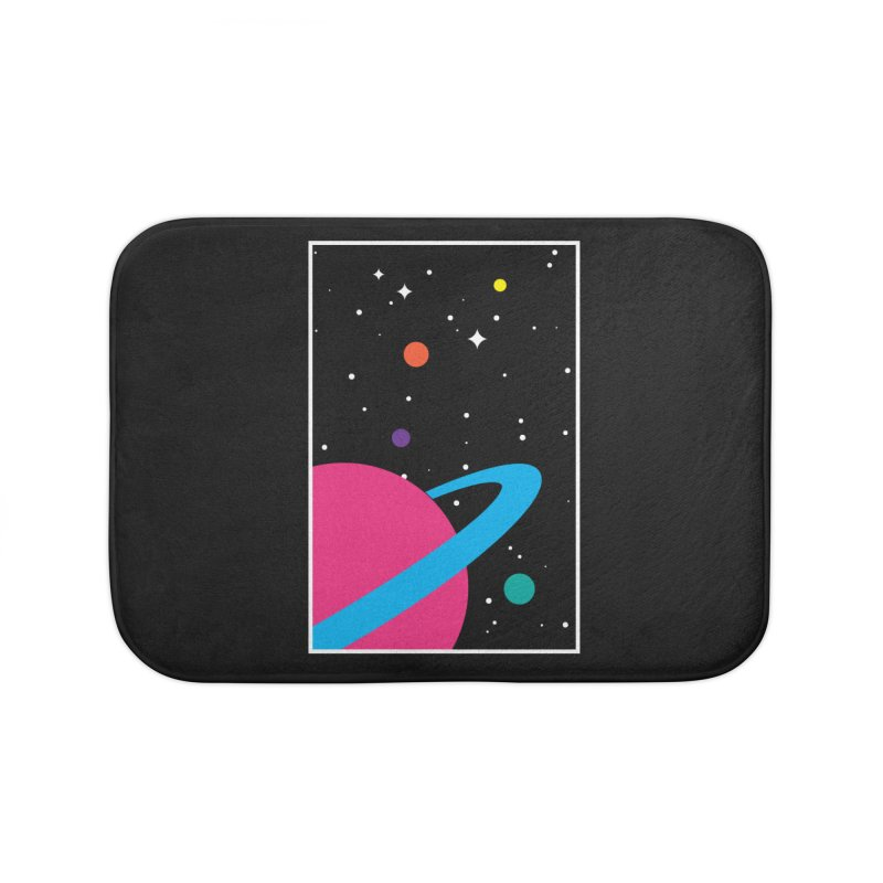 Space Is a Happy Place Home Bath Mat by aparaat's artist shop